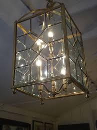 Interior Lantern Light Fixture Glass Lantern Chandelier Elegant Antique Copper Finish And 2