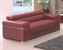 Maroon Sofa in Bonded Leather by American Eagle Furniture