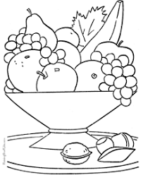 Small Picture Coloring Pages of Food