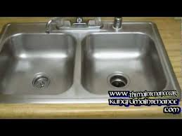 how to regrain and revive a stainless steel kitchen sink youtube
