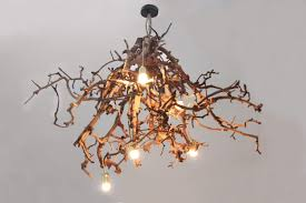 Houten Lampen Plafond Tafel Staande Brocante Kronkel Lamp Br