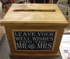 wooden wishing well wedding card box assort sayings handmade engagement new 111491553602