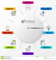 Clock Chart Template Business Concept With Clock Infographic Design Template