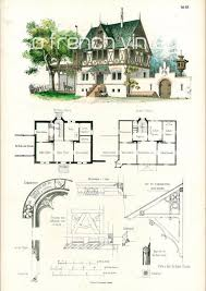 architecture houses blueprints. 1854 Country House Plans Architectural Antique By Sofrenchvintage Architecture Houses Blueprints