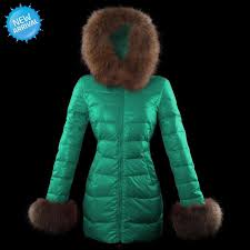 moncler mari fur lacquer women s down coat green uk2908 official factory preis complete in