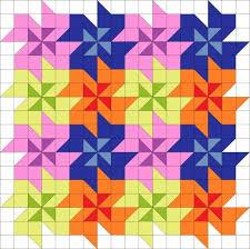 2351 best quilt blocks images on Pinterest   Block quilt, Quilt ... & Tessellating flower quilt block pattern. Adamdwight.com