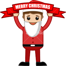 Merry Christmas Celebration In Office Cartoon Business Characters