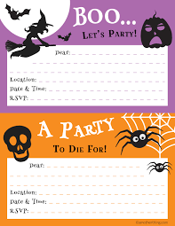 printable invitations for kids free printable halloween party invitations for kids fun for christmas