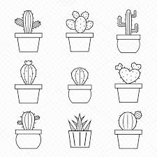 Set Of Vector Cactus Icons By Yod67 On At Creativemarket Tekenen