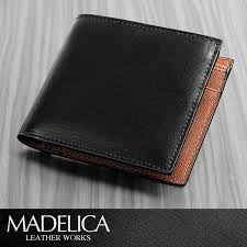 madelica spain leather two bi fold wallet