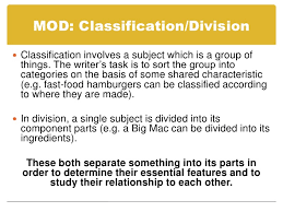 essay tips <br > 8 mod classification division<br