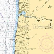 Oregon Yachats Alsea River Nautical Chart Decor