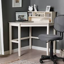 Corner Laptop Writing Desk with Optional Hutch - Vanilla - $169.99