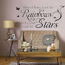 generic rainbows and stars english words style wall sticker home appliances decor wall decals black