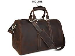 tiding leather travel bag men women large capacity vintage outlook carry on bag luggage 3061