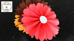 Paper Rosette Flower Easy Paper Rosette Flower For Room Decoration