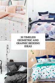 timeless geometric and graphic bedding ideas cover