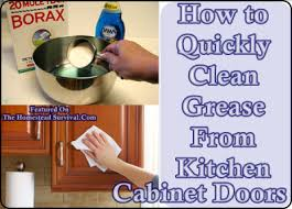 cleaning kitchen cabinet doors. Simple Doors How To Quickly Clean Grease From Kitchen Cabinet Doors U2013 The Homestead  Survival For Cleaning S