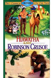 hiawatha robinson crusoe vhs directed by rankin bass  hiawatha robinson crusoe