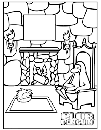 Small Picture Club Penguin Coloring Pages Coloring Home