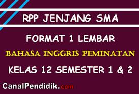 Check spelling or type a new query. Download Silabus Dan Rpp Bahasa Inggris Peminatan 1 Lembar Kelas Xii K13 Revisi 2021 Canalpendidik