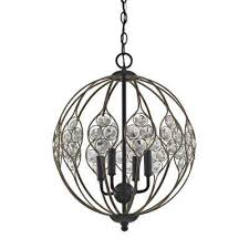 crystal web 4 light matte black with bronze gold highlights and clear crystal chandelier