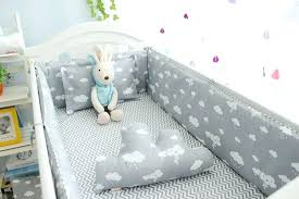 cloud crib bedding set new clouds newborn baby cot boy bed liner mattress 3 silver