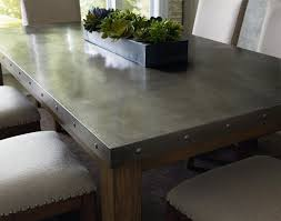 zinc dining room table. Similar With Zinc Top? Riverton Stainless Steel Top Dining Room Table Set By Standard Best Design D