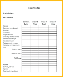 Not For Profit Budget Template