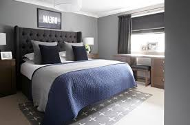 cozy blue black bedroom. L : Four Inscription In A Black Frame Modern Wall Mounted White Cabinet Navy Blue Cozy Pillow Smooth Gray Floor Paint (625 X 413) Bedroom O