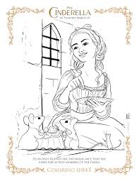 Small Picture NEW Disneys Cinderella Coloring Pages and Activity Sheets