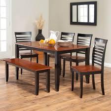 black wood rectangular dining table. Dining Room Table With Bench Seats Black Brown Wooden Varnish Elegant Wood Rectangular O