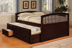 Full Size Trundle Bed With Storage Brown