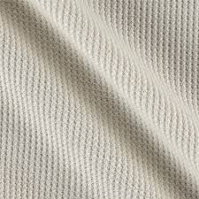 Designer Knit Fabric By The Yard Kaufman Thermal Knit Natural