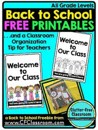 Free Printable Welcome Cards Back To School Teacher Tip And Free Printable Welcome Card Tpt
