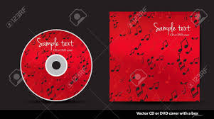 Cd Design Music Red Music Vector Cd Or Dvd Cover Design With Notes