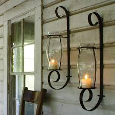 İron wall sconce candle holder wall lights glass sconces wall sconces