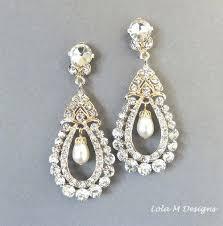pearl chandelier earrings bridal earrings vintage inspired pearl gold chandelier earrings wedding accessory wedding jewelry pearl