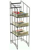 Image Shelf 1214w Displays2go Newspaper Stands Newsprint Tabloid Display Racks