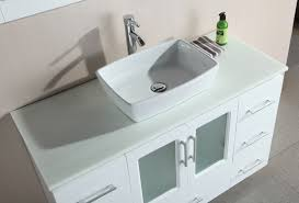 bathroom cabinets for vessel sinks. vanity vessel sink design element stanton 48â\u20ac white bathroom cabinets for sinks