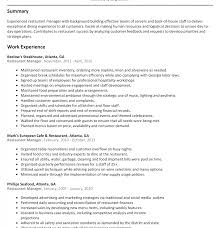 Assistant Manager Job Description For Resume Restaurant Assistant Manager Resumeles Your Catering Must 41