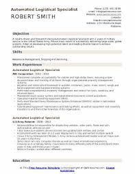 Army Resume Automated Logistical Specialist Resume Samples Qwikresume
