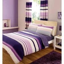 dazzling purple stripes bedding sets as well as purple striped curtain