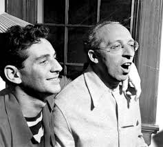 leonard bernstein s west side story photo of bernstein and aaron copland 1945
