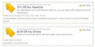 10 Off Coupon Template Dinner Coupon Template Disclaimer Sample Marvie Co