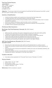 resume for restaurants fast food sample resume resume