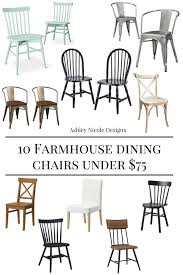 10 farmhouse dining chairs under 75