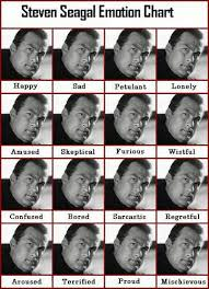 Steven Seagals Emotion Chart Evil Genius For A Better