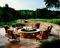 chairs around fire pit new designing a patio diy intended for 9
