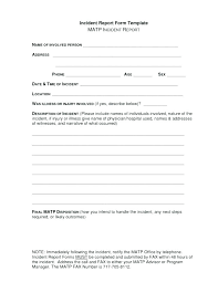 Police Incident Report Form Template Accident Car Sample Writing